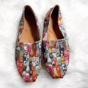 Bobs Dog Print Flat Slip On Shoes